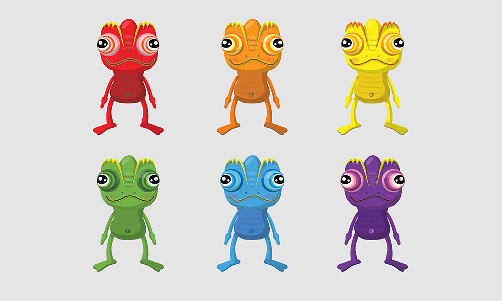 Different Versions of the Chameleon by Sun Park